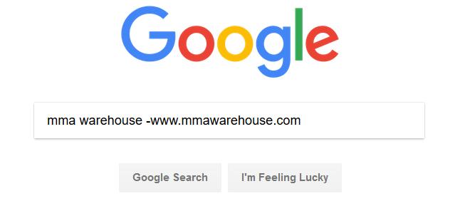Screenshot showing a google search query