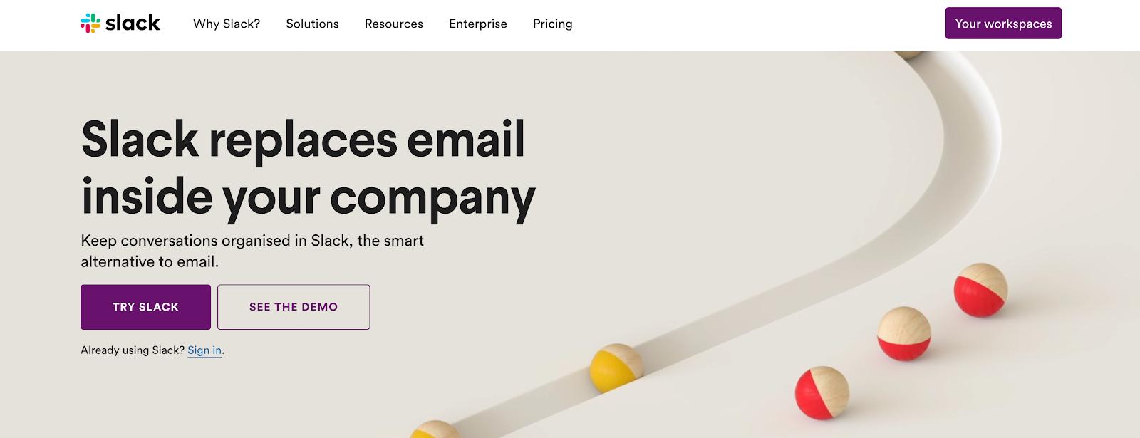 Best Homepages Online - Slack