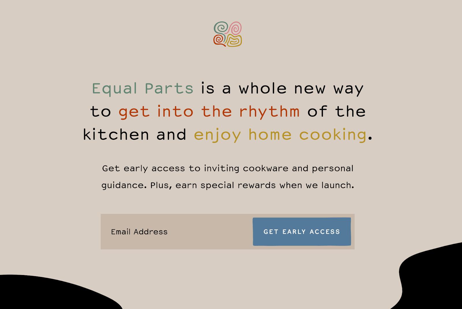 Screenshot of Equal Parts website