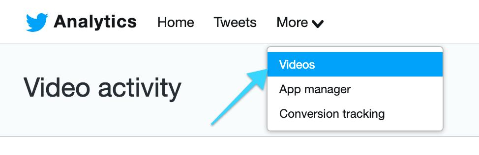 Tweet analytics for video views