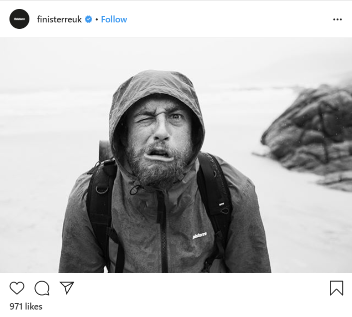 Screenshot of Instagram post from Finisterreuk