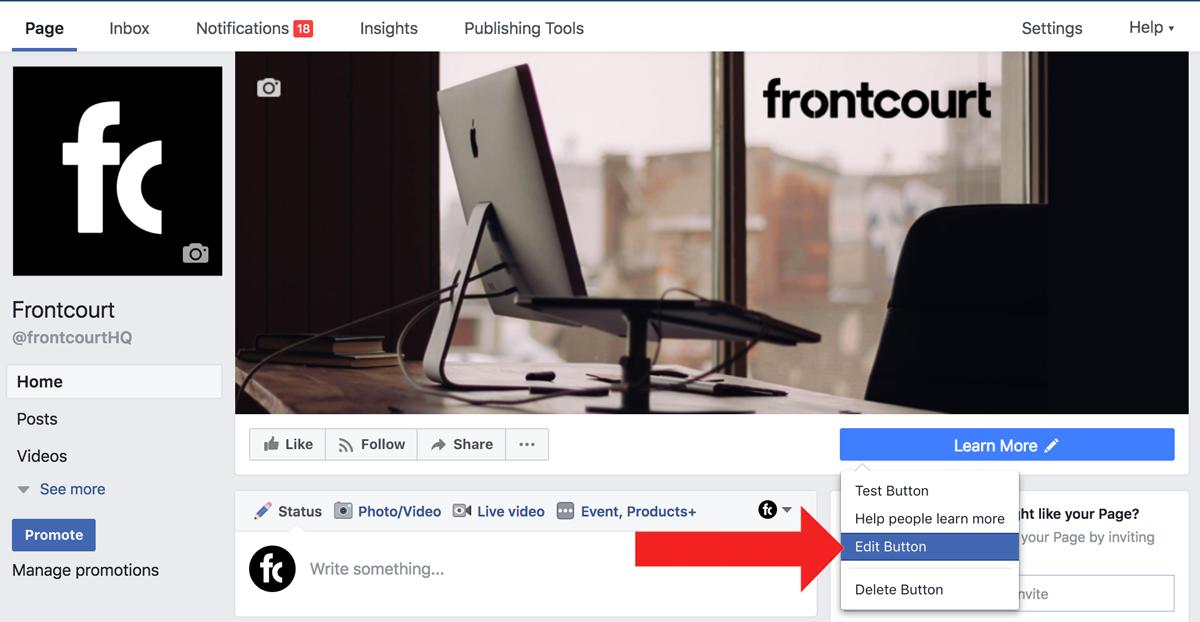 Screenshot showing a facebook profile