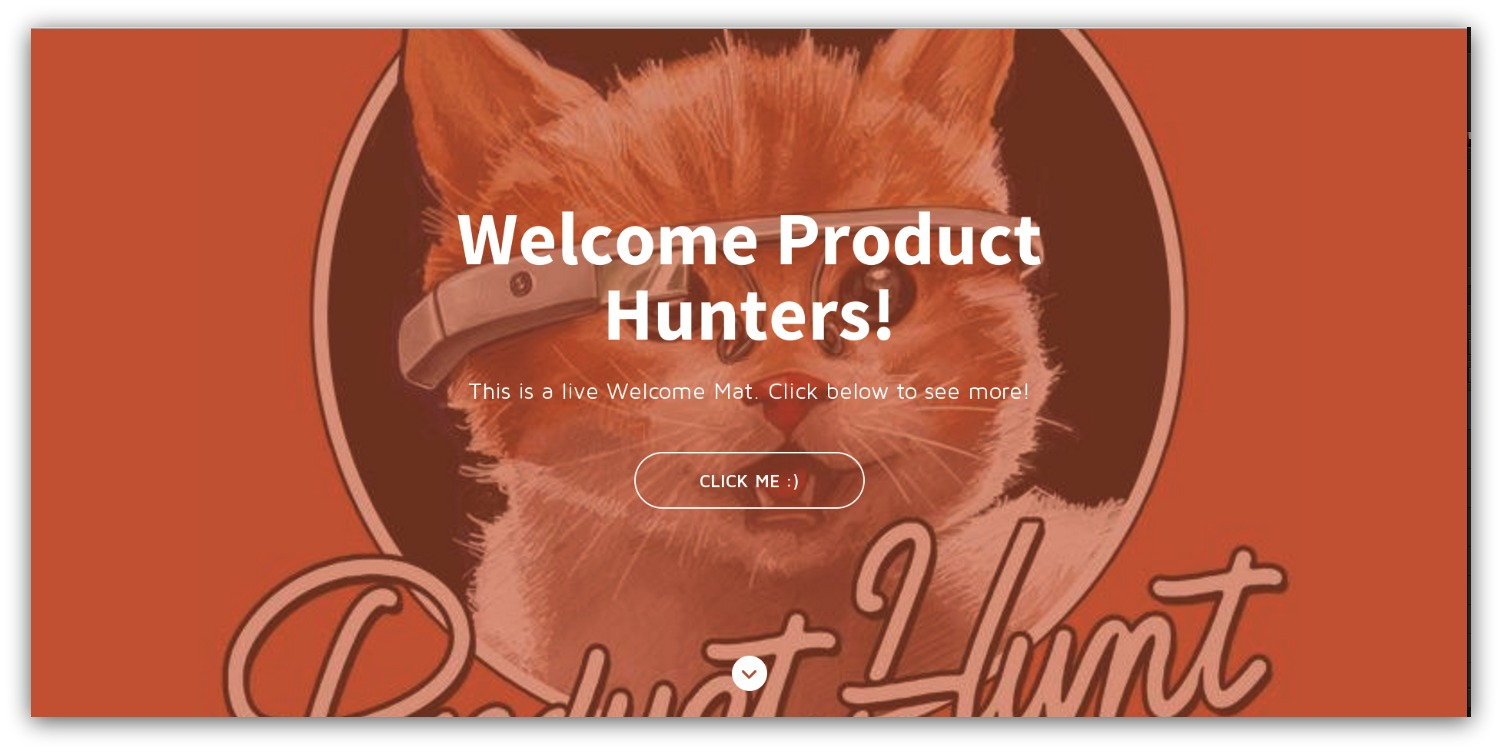 Screenshot showing a picture of product hunt