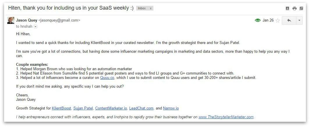 email to hiten shah