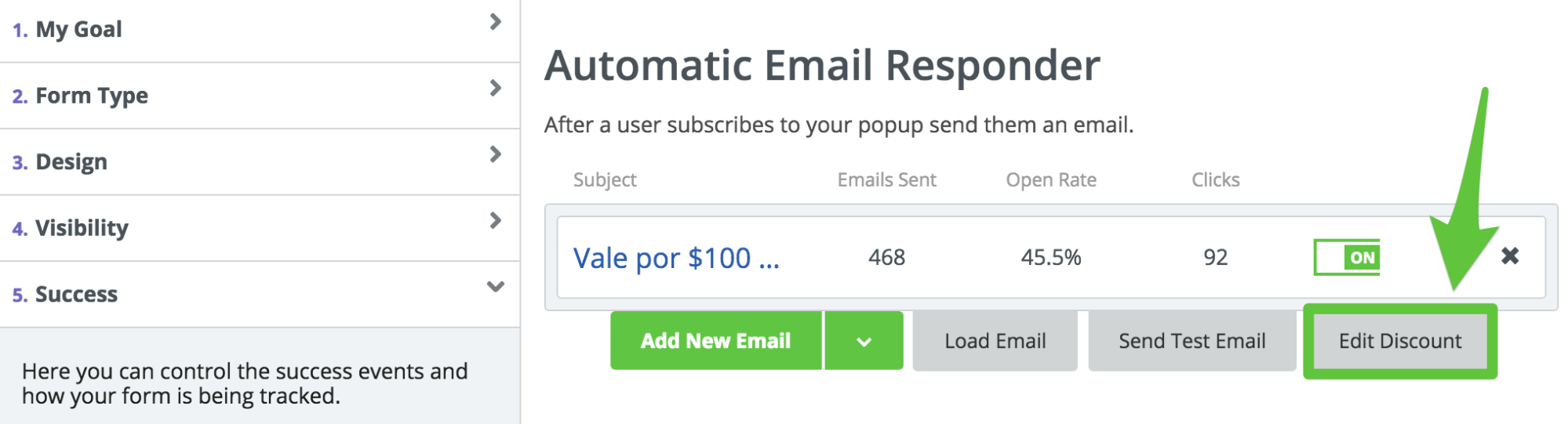 Screenshot showing Sumo email responder settings