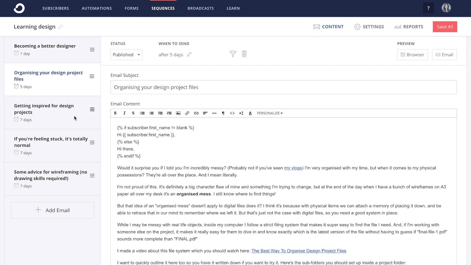 Email Autoresponder Tools: ConvertKit