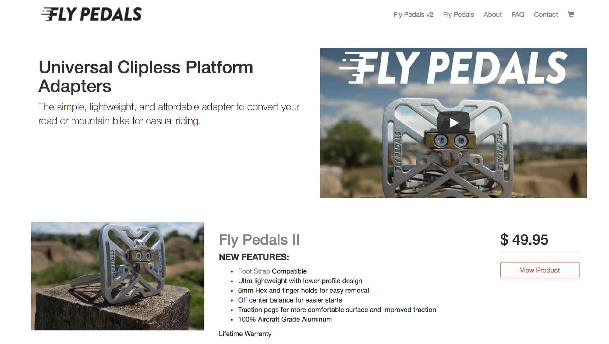 Screenshot showing fly pedals