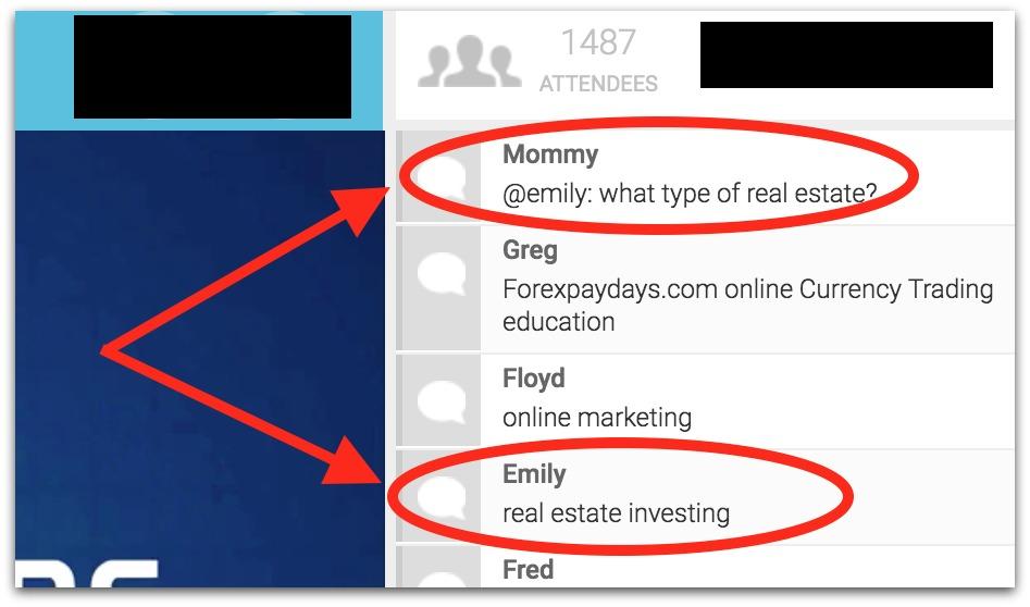webinar chat example
