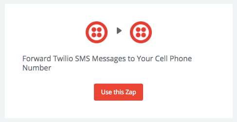 Screenshot showing a zap on zapier