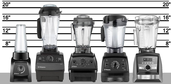 Picture showing a comparison of blenders