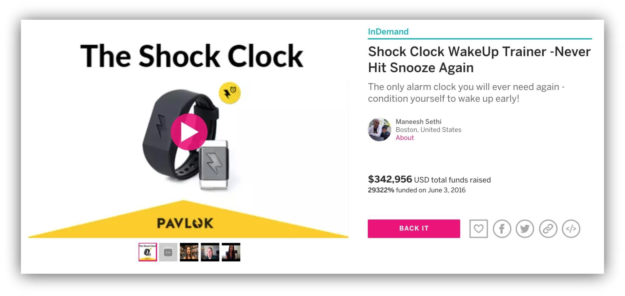 Screenshot showing a crowdsourcing campaign