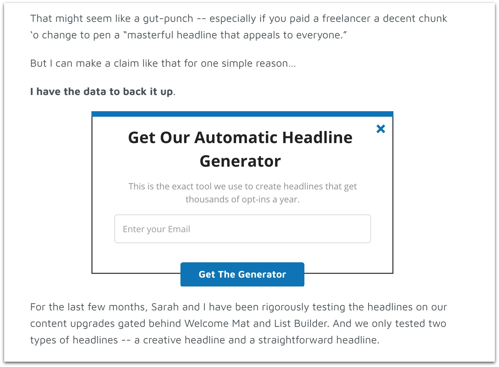 get our automatic headline generator