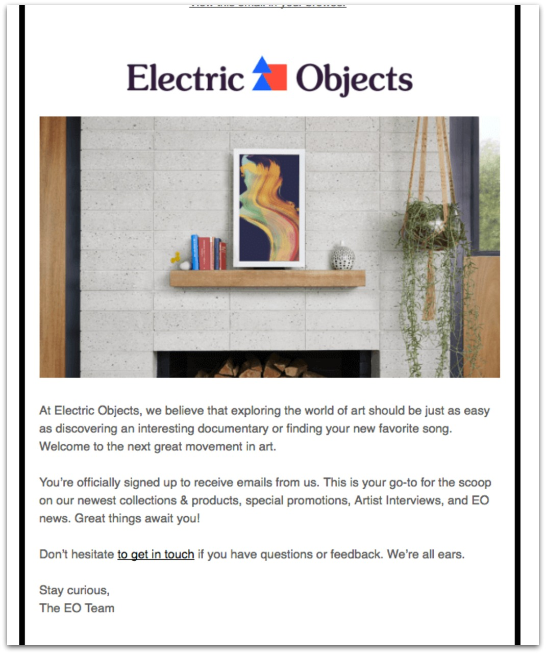 electric objects email example