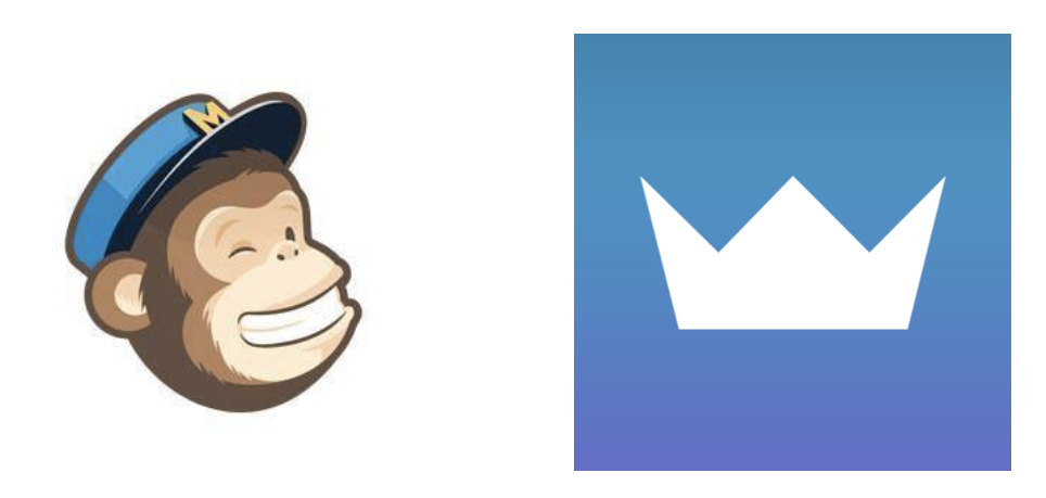 Screenshot showing MailChimp and Sumo logos