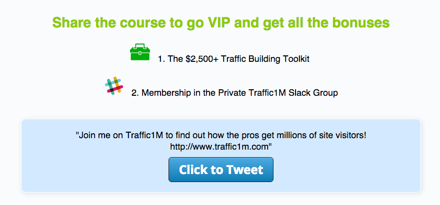 Traffic1M social proof