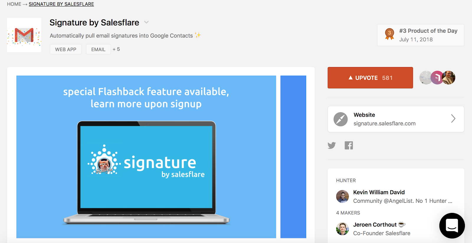 EXAMPLE #1: SIGNATURE BY SALESFLARE