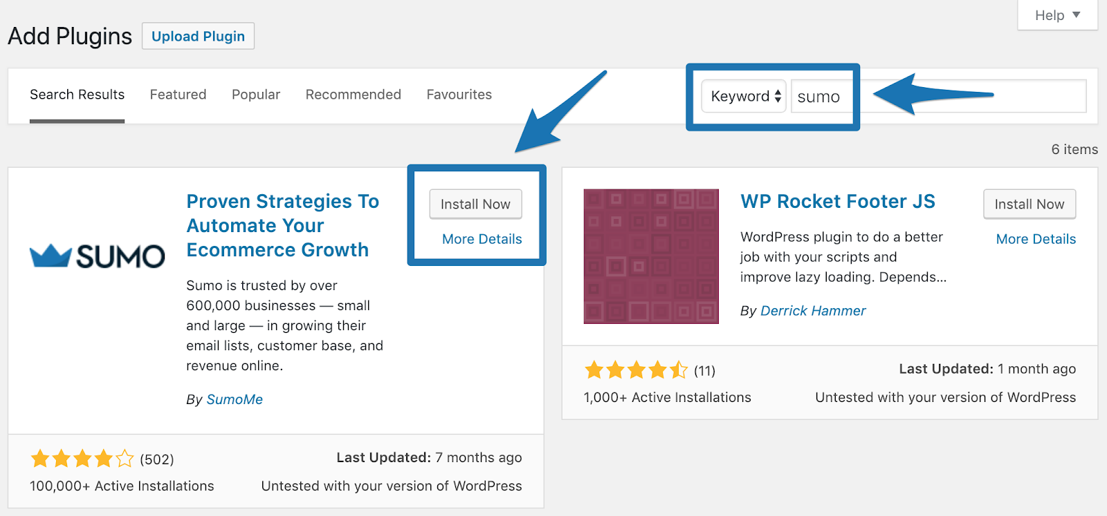 Screenshot showing Wordpress plugin adding page