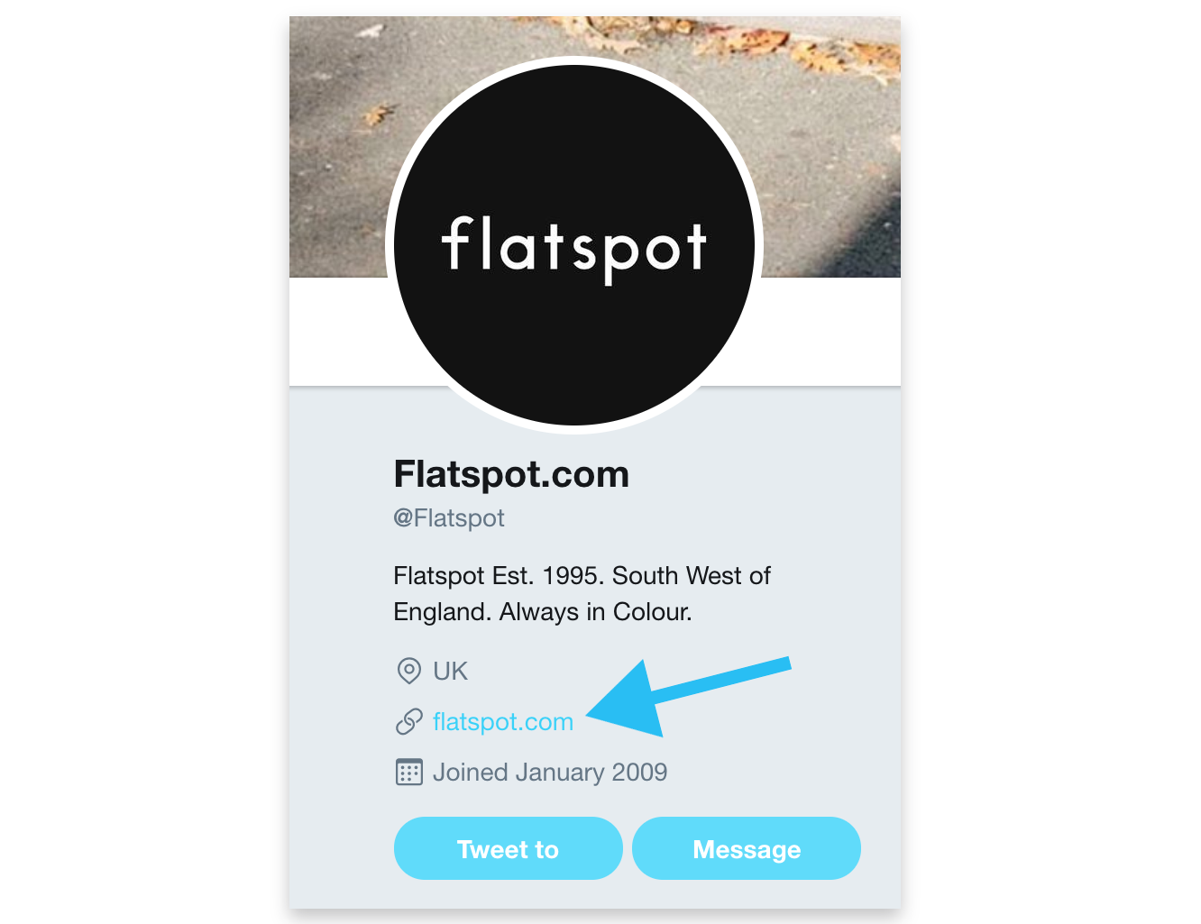 Screenshot showing flatspot