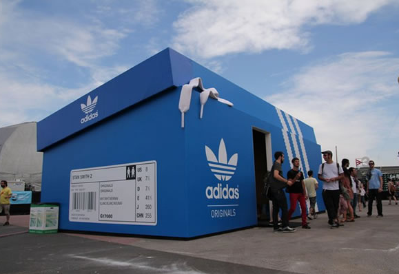Screenshot showing a huge adidas shoebox