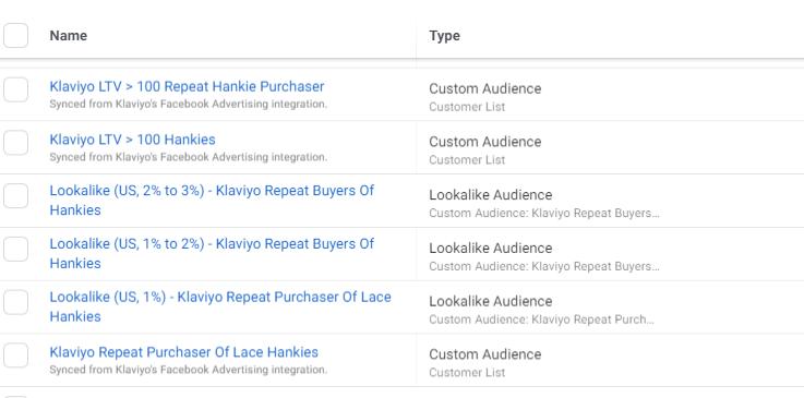 Custom audiences & Lookalike audiences