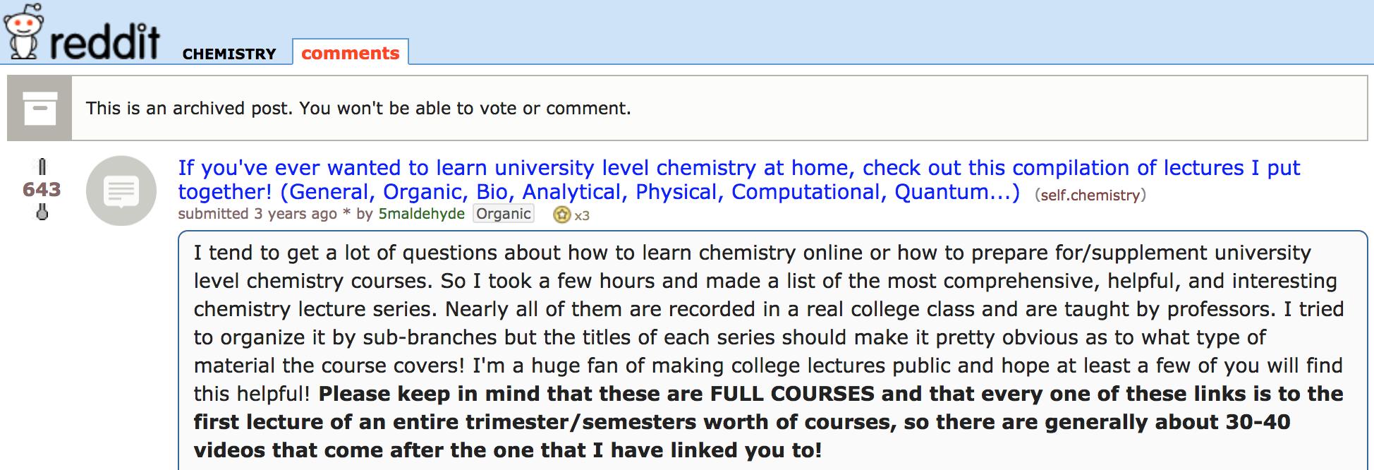 Screenshot showing a reddit post