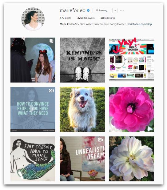 marie forleo instagram