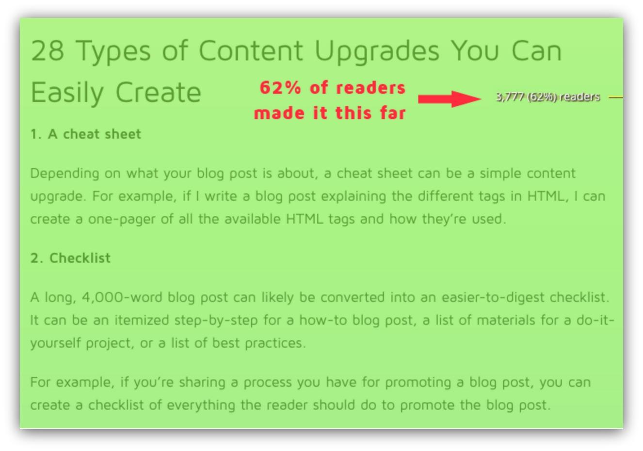 easy content upgrades