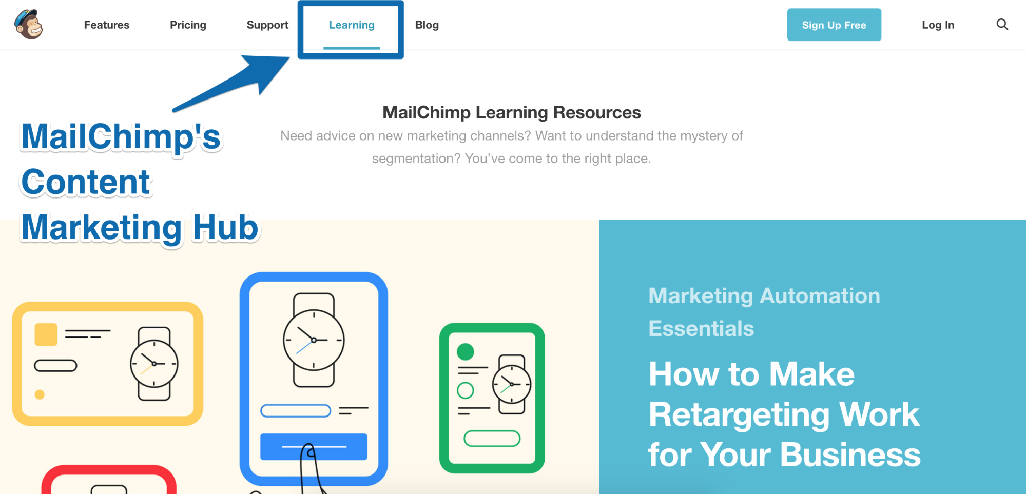Screenshot showing mailchimp