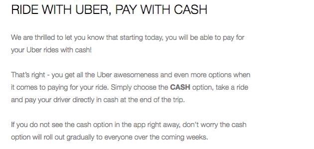 Global Marketing Strategy: Screenshot of email by Uber Sri Lanka