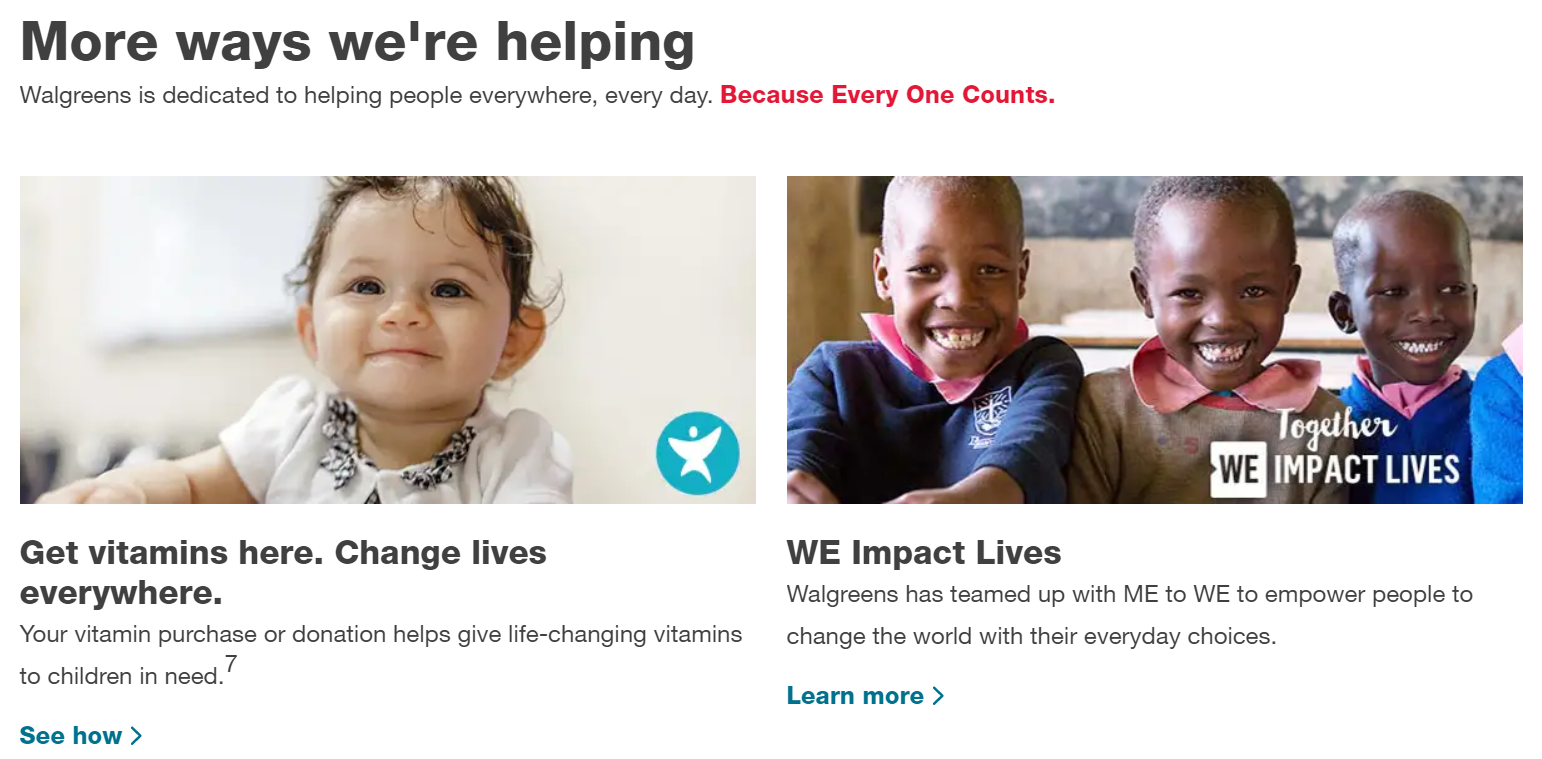 nonprofit organization platform - Walgreens partners with Red Nose Day to raise money for needy children.