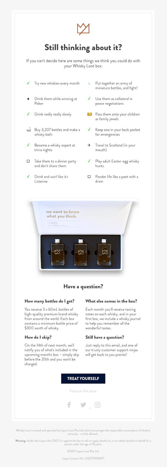 Screenshot of Whiskey Loot