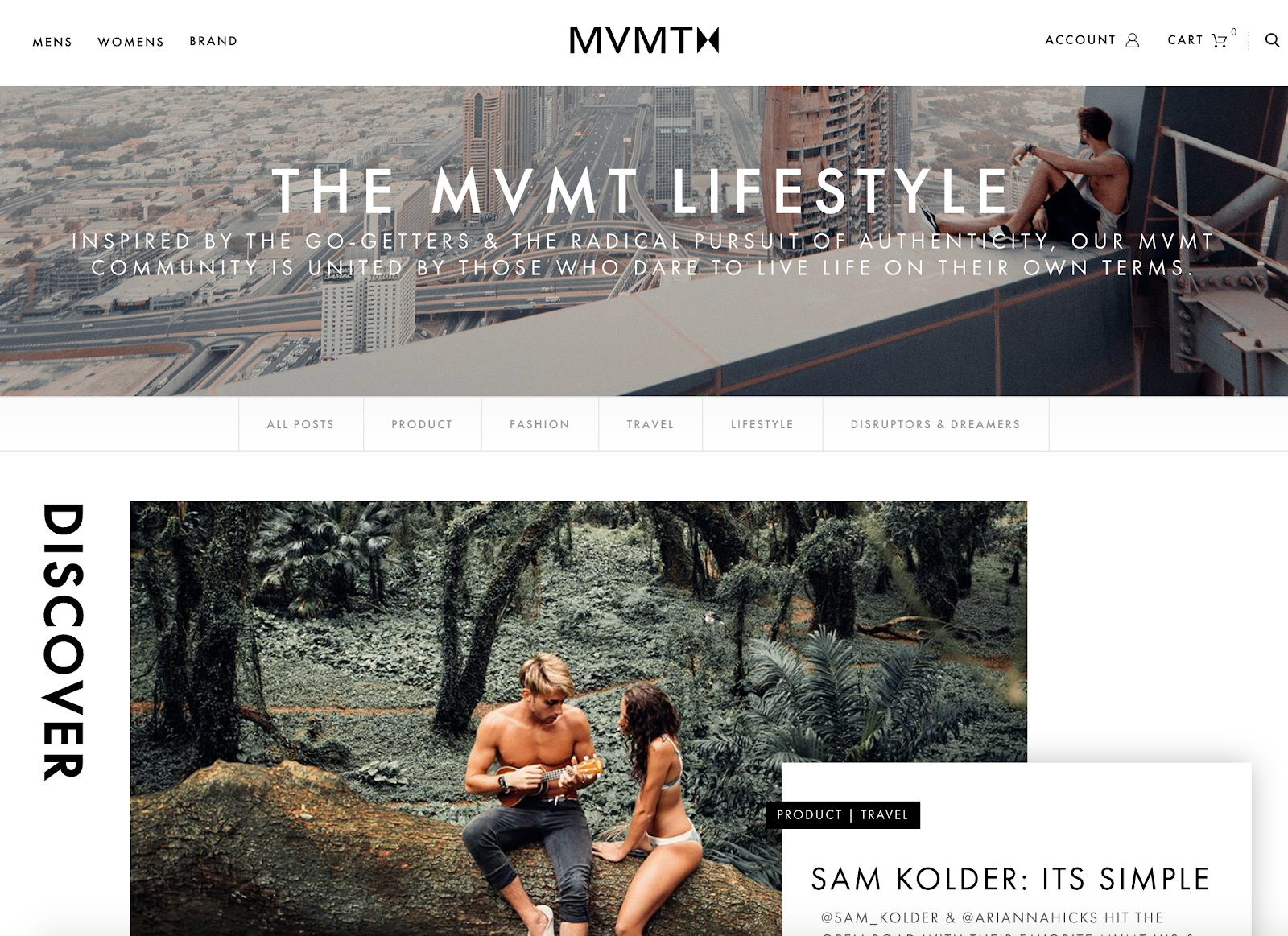 Screenshot of MVMT blog