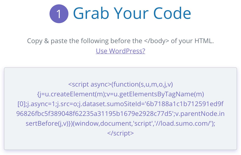 Screenshot showing Sumo code