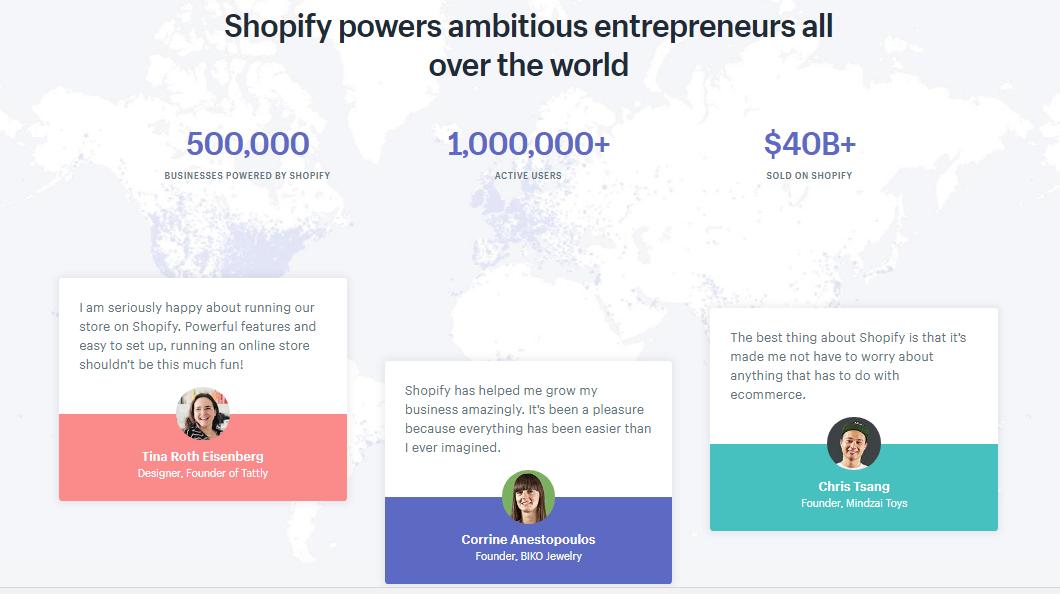 Screenshot showing shopify