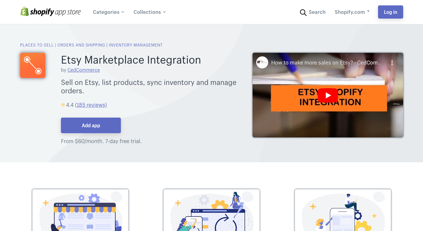 Etsy Marketplace Integration shopify app