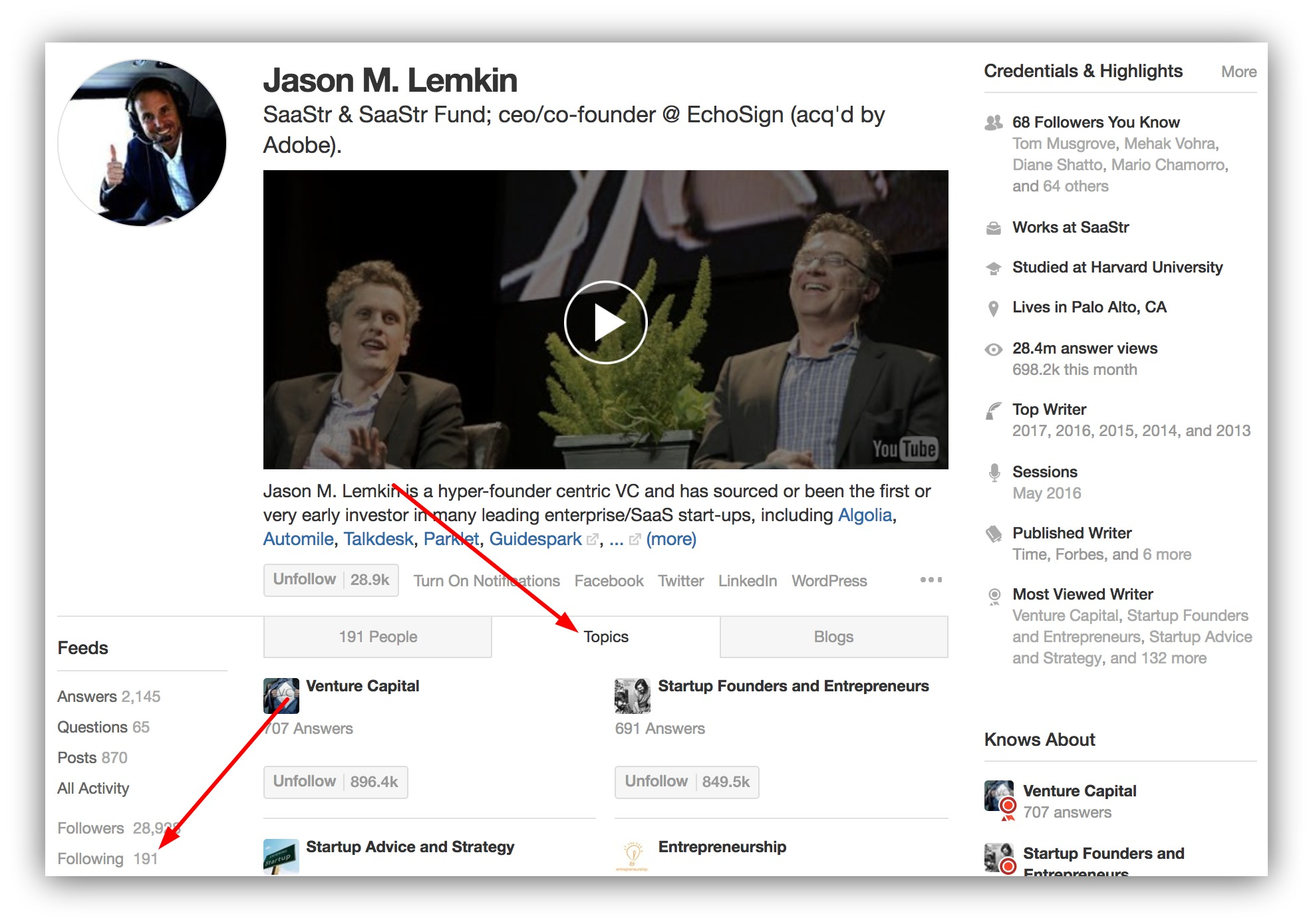 Screenshot of Jason M. Lemkin