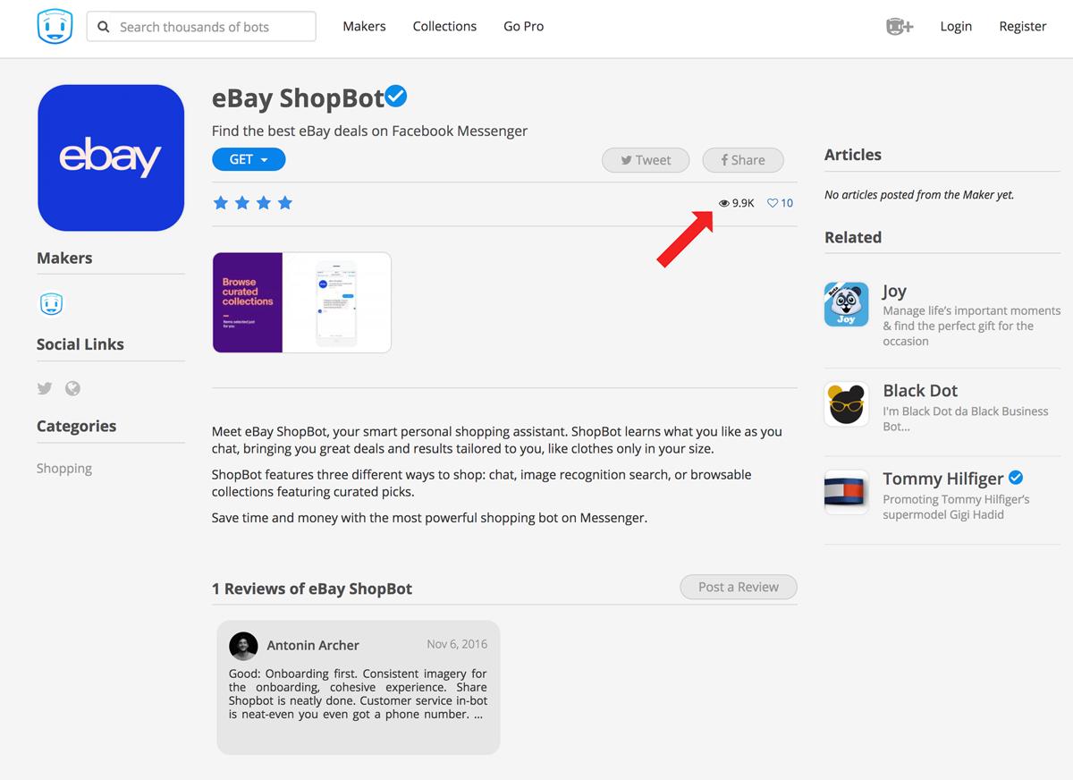 Screenshot showing ebay