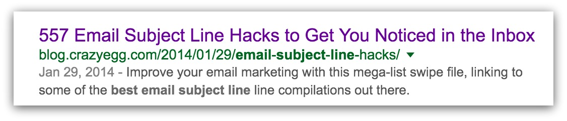 subject line hacks