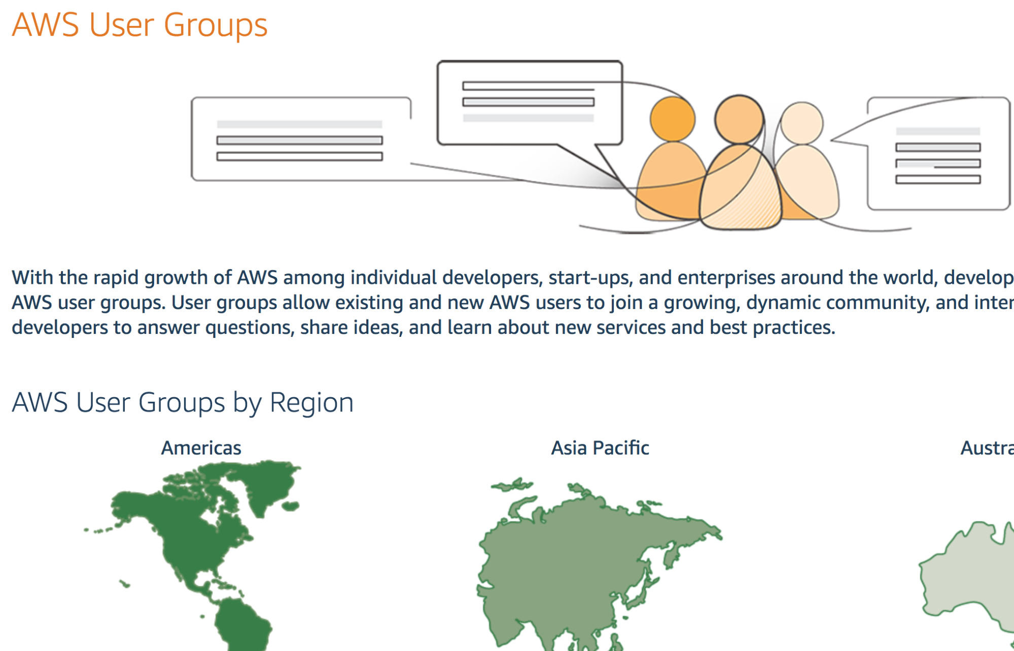 Screenshot showing AWS user groups information