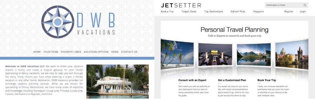 Screenshot showing homepage