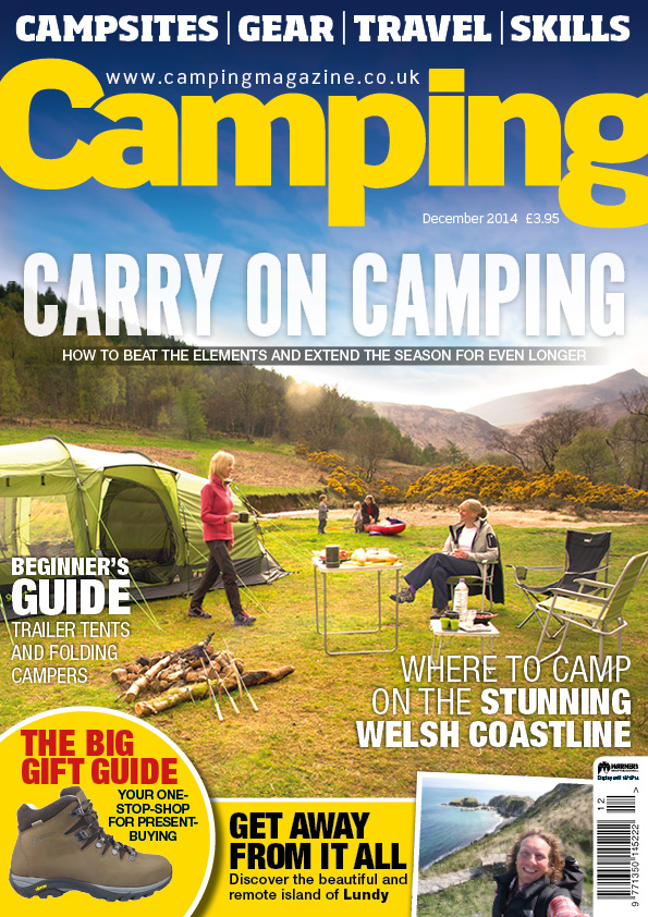 Magazine cover about camping