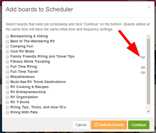 Screenshot showing Scheduler options
