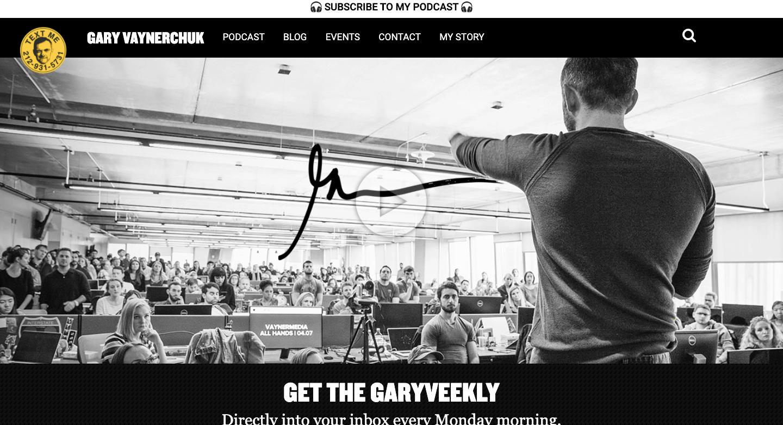 Gary Vaynerchuk landing page