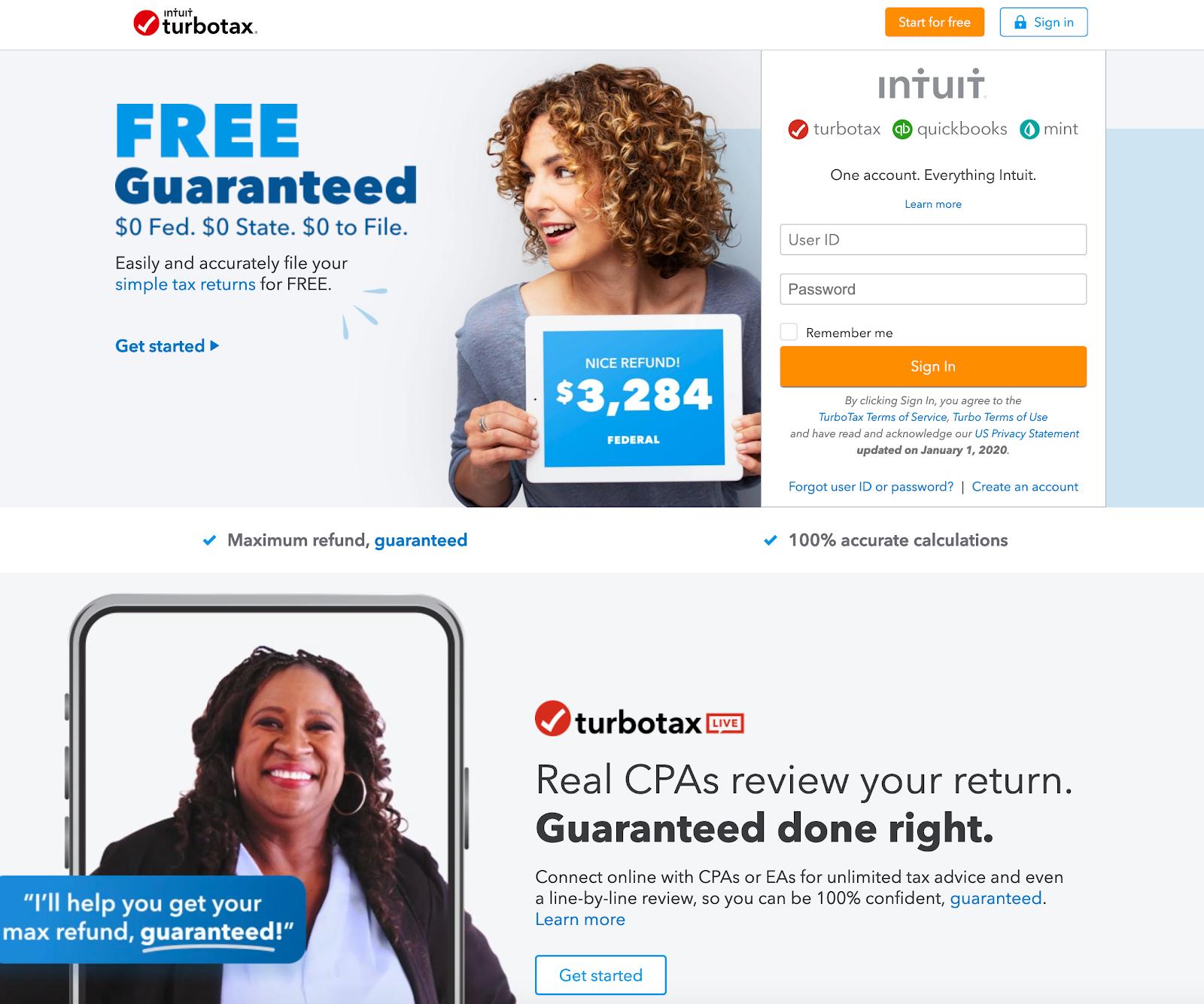 Best Homepages Online - TurboTax