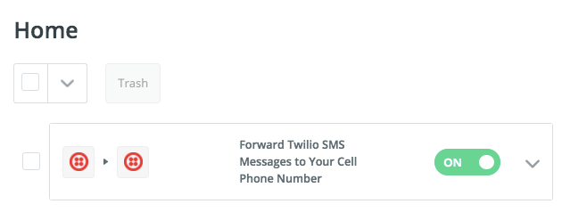 Screenshot showing settings on the Twilio dashboard