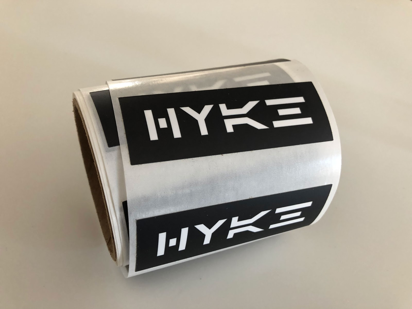 Picture showing HYKE sticker