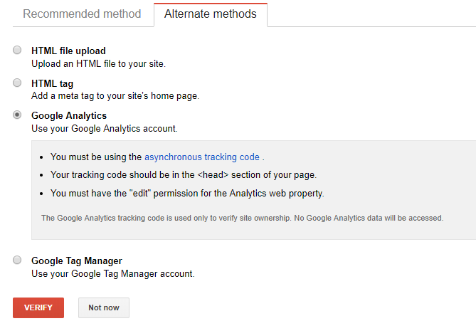 Screenshot showing Google Analytics conversion settings