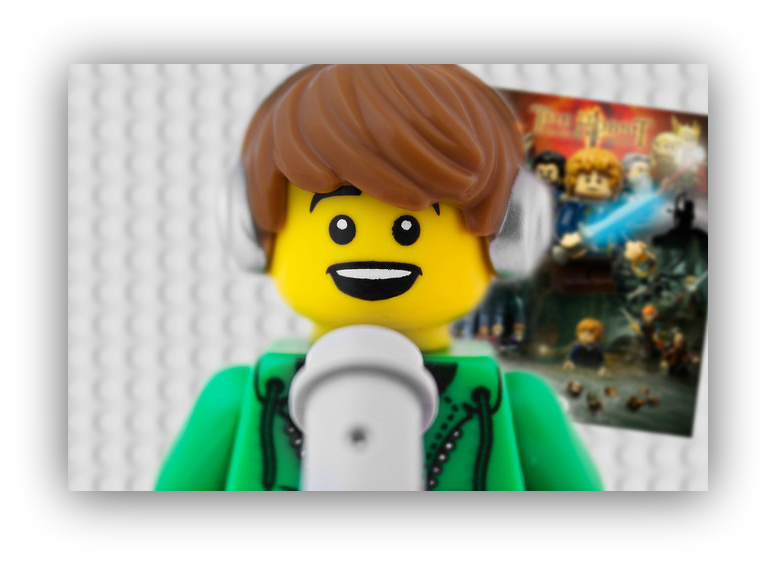 Screenshot of a lego character