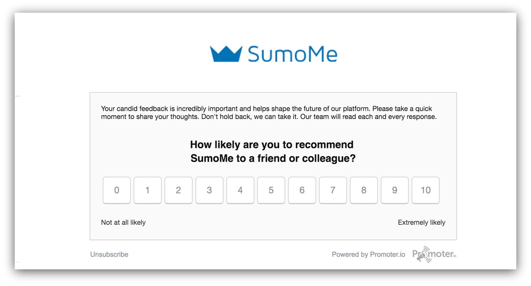 nps survey sumo