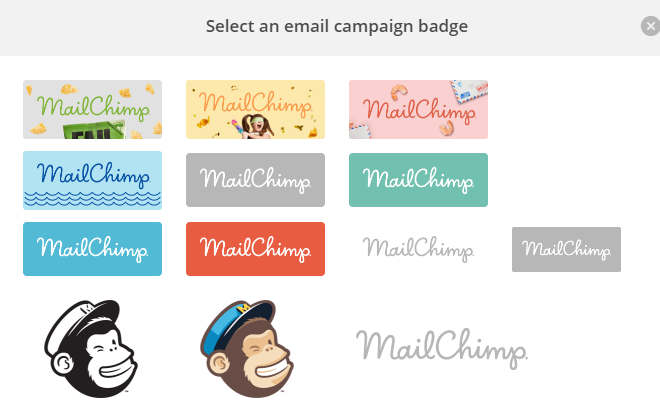 Screenshot showing an option on mailchimp